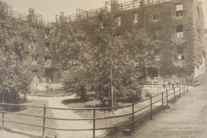 Courtyard, Harrison Avenue houses, Boston, Mass., undated