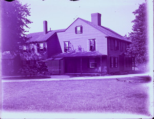 Exterior view of the John Crehore House and front yard, Milton, Mass.