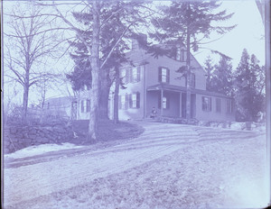 Exterior view of the John Crehore House from the driveway, Milton, Mass.