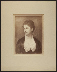 Photograph of a portrait of an unidentified woman