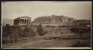 Acropolis viewed from a grove of trees, Athens, Greece