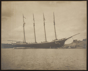 Launching of four-masted ship