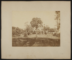 Exterior view of the house and grounds of the Grange, Lincoln, Mass.