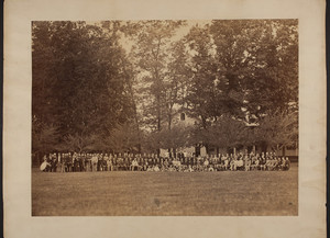 Group portrait of Hogg, Brown and Taylor's employee picnic, Framingham, Mass., undated