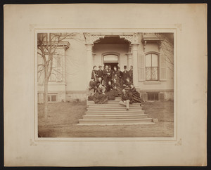 Group portrait taken at Mrs. Bigelow Lawrence's House, Doylestown, Pennsylvania, March 1872
