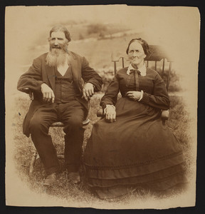 Portrait of an unidentified couple, Concord, Mass., ca. 1880