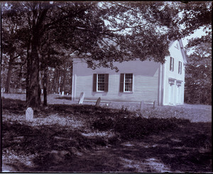 Exterior view of the Old Indian Meeting House, Mashpee, Mass.