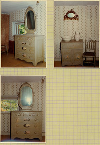 Tucker Family photograph album, interior views, bedroom, Wiscasset, Maine, 1964