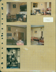 Tucker Family photograph album, interior views, parlor, page thirty-one, Wiscasset, Maine, 1964