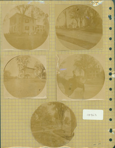 Tucker Family photograph album, exterior views and portraits, page forty-two, Wiscasset, Maine, 1890s