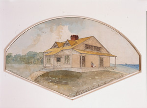Perspective of the Reverend John C. Brooks Cottage, Marion, Mass., 1882