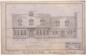 Front exterior elevation of the Mrs. Arland A. Dirlam House, Stoneham, Mass., Aug. 15, 1935