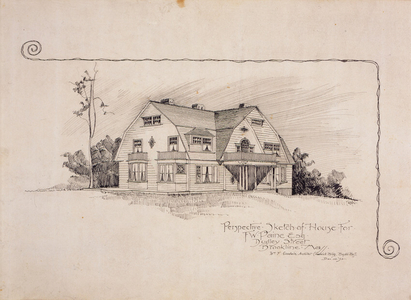 Perspective of the Frederick W. Paine House, Brookline, Mass., Dec. 22, 1892