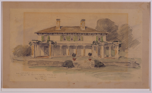 West elevation of the Harriet Crowninshield Coolidge House, Dublin, N.H., 1900