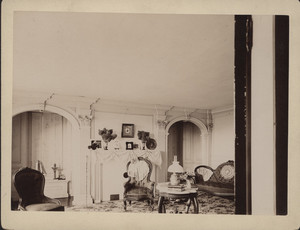 Interior view of the Royall House, parlor, Medford, Mass., undated