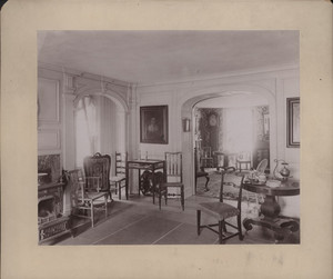 Interior view of the Royall House, parlors, Medford, Mass., undated