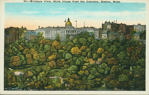 Birdseye view, State House from the Common, Boston, Mass., undated