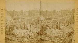 Stereograph of the Post Office ruins after the Boston fire, Boston, Mass., 1872