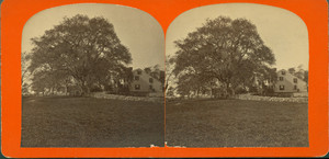 Stereograph of the Samuel Cushing House, Hingham, Mass., undated