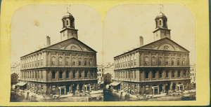Stereograph of Faneuil Hall, Boston, Mass., undated