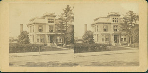 Stereograph of the Louis Prang House, Centre St., Roxbury, Mass., undated