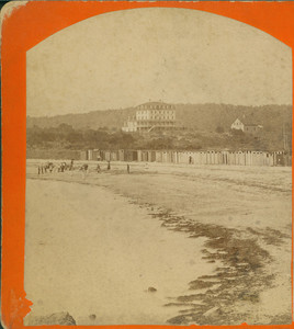 Stereograph of Crescent Beach House, Crescent Beach, Magnolia, Mass., undated