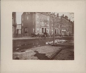 Exterior view of houses on Beacon Street, Boston, Mass., undated