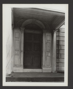 Exterior view of the Jarathmael Bowers House, porch, Somerset, Mass., undated