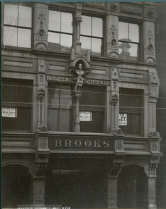 Exterior view of the birthplace of Benjamin Franklin, 45 Milk St., Boston, Mass.,1898