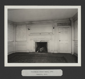 Interior view of the Jarathmael Bowers House, north parlor, Somerset, Mass., undated