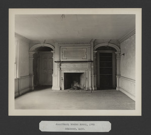 Interior view of the Jarathmael Bowers House, dining room, Somerset, Mass., undated