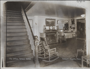 The office, Terrace Gables, Falmouth Heights, Mass., undated