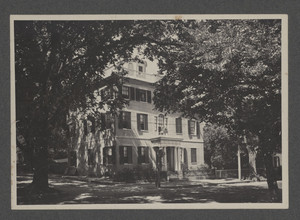 Exterior view of the Russell House, Plymouth, Mass., undated