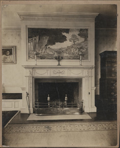 Interior view of the Sewell House, York, Maine, undated