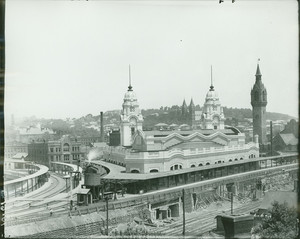 Exterior view of the new Union Station, Worcester, Mass., June 6, 1911