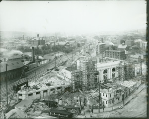 Exterior view of the new Union Station, Worcester, Mass., May 12 1910