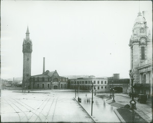 Exterior of the old Union Station, Worcester, Mass., undated