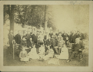 Group portrait, Roseland Park, Woodstock, Conn., July 4, 1888