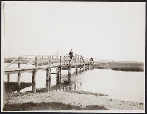 Beach boardwalk, Sandwich, Mass., undated