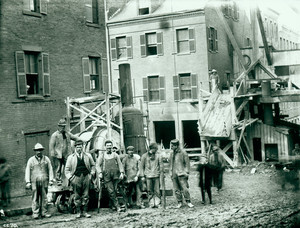 Surface occupation at west side of Phillips Street, Boston, Mass., undated