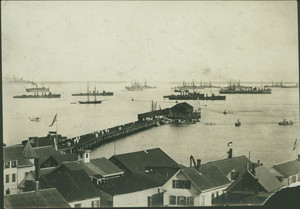 View of the Atlantic Fleet in Provincetown Harbor, Provincetown, Mass., undated