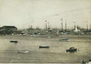 View of the Atlantic Fleet, Provincetown Harbor, Provincetown, Mass., undated