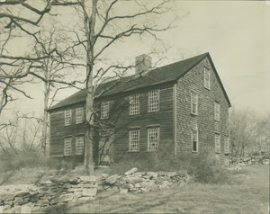 Exterior view of the Barnaby House, Freetown, Mass., undated