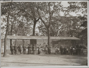 Bear cages, Franklin Park, west side, Boston, Mass., undated