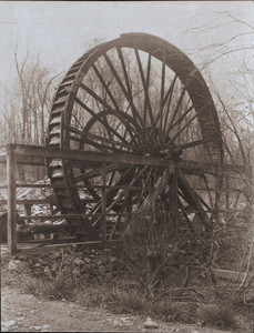 View of the Old Waterwheel, Weston, Mass.