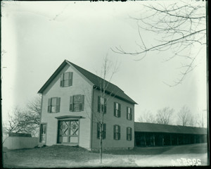 Exterior view of the fire station, Shrewsbury, Mass., undated