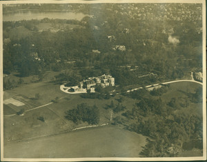Aerial view of the Larz Anderson Estate, Brookline, Mass., undated