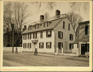 Exterior view of the Ropes House, Salem, Mass., undated