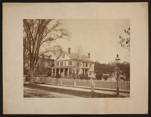 Exterior view of an unidentified house, Cambridge, Mass., undated