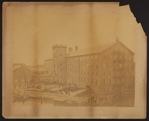 Exterior view of the Newmarket Manufacturing Co. mill, Newmarket, N.H., undated